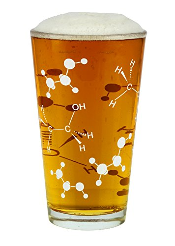 Chemistry Themed Pint Glass (21 Oz) - A Perfect Addition to Any Chemistry Set for the Chemist in Your Life - Great Gift for Bio & Chem Grads, Nurses, Doctors and all those in the Medical & Research