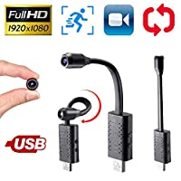 Smallest Spy Hidden Camera,Rettru Portable HD 1080P Nanny Camera with Motion Detection,Perfect Indoor and Outdoor Tiny Covert for Indoor Security Inside Spying