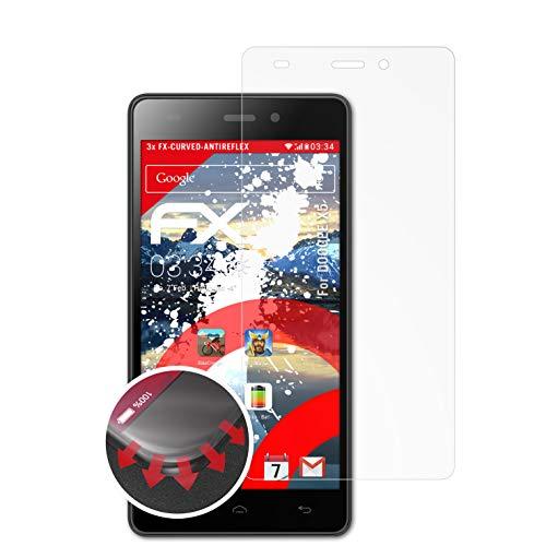 atFolix Schutzfolie kompatibel mit DOOGEE X5 Folie, entspiegelnde & Flexible FX Bildschirmschutzfolie (3X)