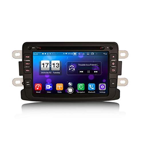JIBO 7' Android 10.0 Carro Estéreo GPS Navegación Cabeza Unidad Apoyo DSP Carplay Bluetooth SWC Auto Radio Multimedia Jugador Video Receptor por Renault Dacia Logan