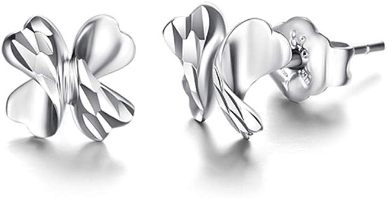Platinum Stud Earrings Female Authentic Earrings Pt950 White gold Earrings@Fan