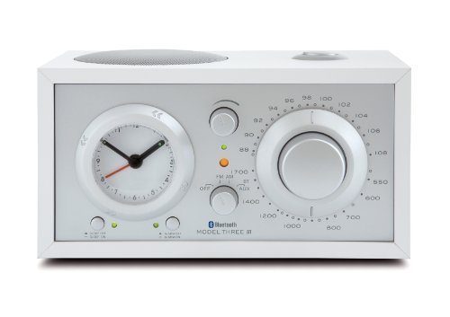 Tivoli Audio Three Bluetooth UKW-/MW-Radiowecker in Weiß/Silber