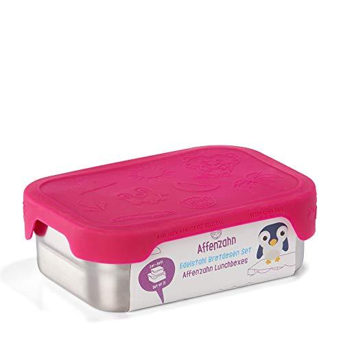 Affenzahn Brotdosen-Set (2er Pack) aus Edelstahl bpa-frei für Jungen und Mädchen im Kindergarten und Kita - Eule