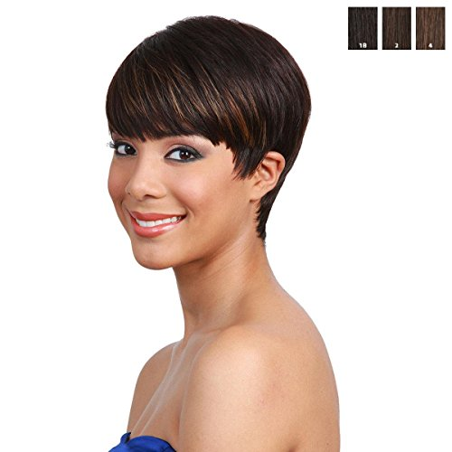 Price comparison product image BOBBI BOSS Human Hair Wig - MH1212 CUTIE ( 1B - Off Black)