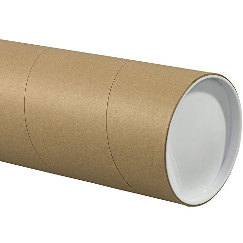 "Top Pack Supply Jumbo Mailing Tubes, 5"" x 60"", Kraft, (Pack of 15)"