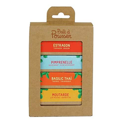 La Surprise du Chef - Moutarde - Estragon - Basilic Thaï - Pimprenelle - 4 capsules pour votre potager de Prêt à Pousser