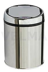 VELMA - AE009L - Vollautomatischer Infrarot Mülleimer mit Sensor - Aus hochglanzpoliertem Edelstahl - Mit Inneneimer - Hochwertige Qualität - Das neue Highlight für Ihr Bad, Küche, Büro oder.... !