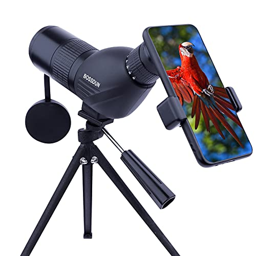 12-36x50 Spotting Scope with Tripod,Carrying Bag and Phone Adapter,HD Spotting,BAK4 Prism,45 Degree Angled,Spotting Scopes for Target Shooting,Bird Watching,Hunting,Wildlife Viewing