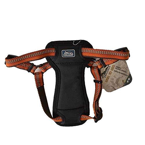 Coastal - K-9 Explorer - Reflective Adjustable Padded Dog Harness, Rosebud, 5/8' x 12'-18'