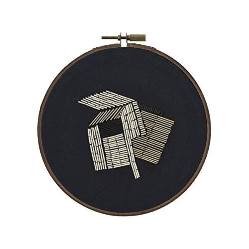 House Doctor Wandschmuck Perlen schwarz/weiß/gold 25x25cm