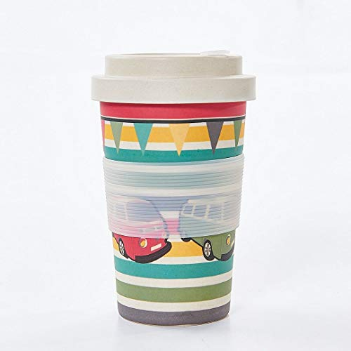 Eco Chic Reusable Bamboo Coffee Cup (Camper Vans)