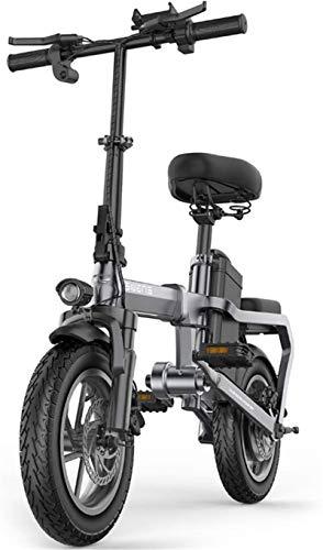 RDJM Bici electrica Bicicletas Plegables eléctricos con 350W 18V de 14 Pulgadas, 6-15AH de Iones de Litio E-Bici for el Recorrido de Ciclo de Trabajo Fuera y los desplazamientos