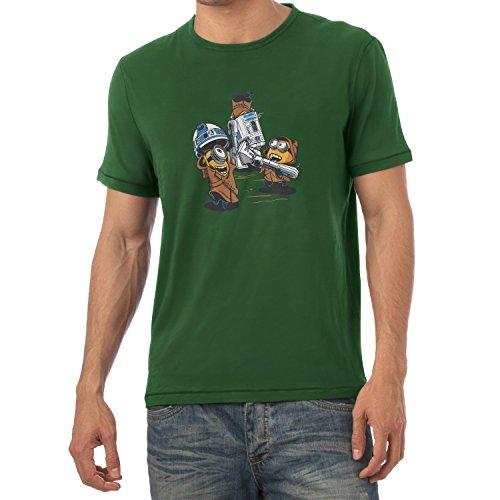Nerdo - Banana Jawas - Herren T-Shirt, Größe L, flaschengrün
