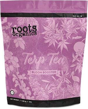Roots Organics Terp Tea Bloom Booster, Micronized Organic Fertilizer, 0.5-6-18 NPK, with Beneficial Bacteria