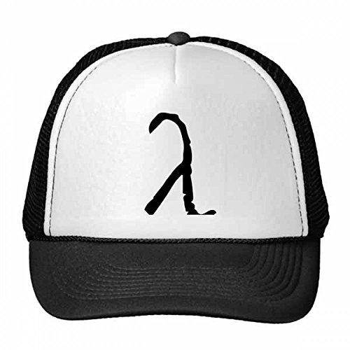 DIYthinker Nylon Gorra de béisbol del Alfabeto Griego Lambda Negro Silueta Gorros Gorro Casquillo Ajustable Regalo Fresco Sombrero de los niños