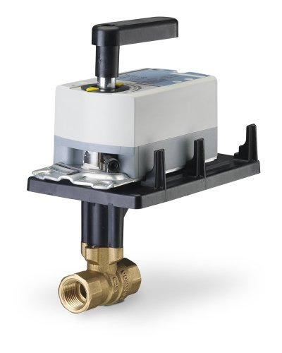 Siemens 171A-10300 2-Way 1/2-Inch 0.4 Cv Ball Valve Assembly with Chrome-Plated Brass Ball and Brass Stem, Floating Fail-in-Place Actuator, 200 Psi Close-Off, NPT