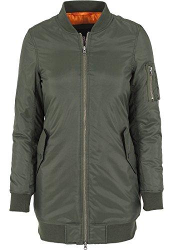 Urban Classics Damen Jacke Jacke Long Bomber Jacket grün (Olive) Small