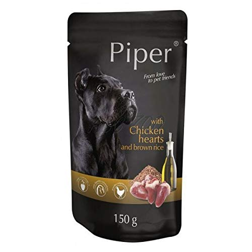 Piper with Chicken Hearts and Brown Rice Pocket for Dogs 150 g Piper, Pies, Pockets, Dogs, News