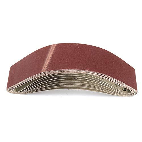 10 Uds 50x686mm papel de lijado de cinta abrasiva para lijadoras de banda amoladora de banco herramienta de pulido de pulido 60-150 grano nuevo, como se muestra