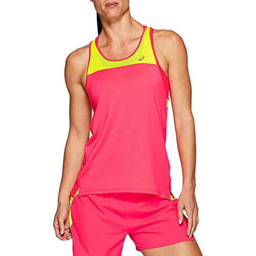 ASICS Loose Strappy Trainingstop Damen pink/Neongelb, M (40 EU)