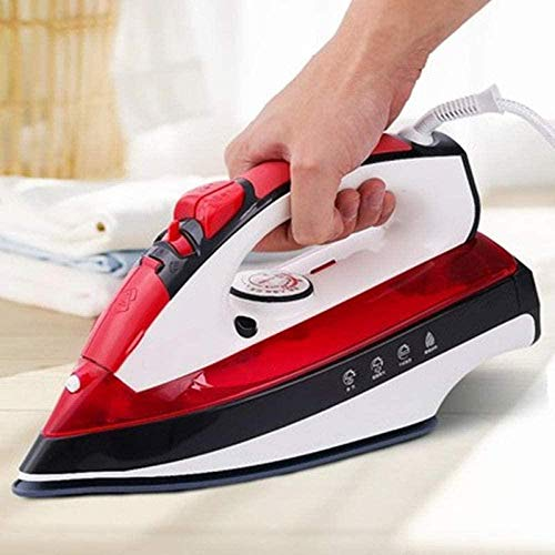 Stoomstrijkijzer Snelle verwarming Elektrisch strijkijzer Hand Kleine stoommachine Stoomstrijkijzer Rood Draagbaar voor slaapzalen voor gezinnen