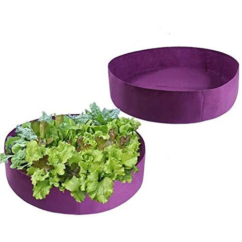 MINGMIN-DZ Dauerhaft 2ST Garten große Kapazitäts-Pflanztasche Pflanz Bett Farm Anbau Breath Nursery Stammcontainer Lila