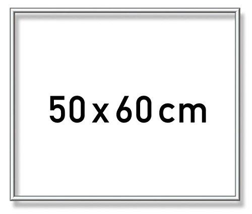 Schipper 605240769 - Malen nach Zahlen - Alurahmen 50 x 60 cm, Silber matt ohne Glas für Ihr Kunstwerk, einfache Selbstmontage