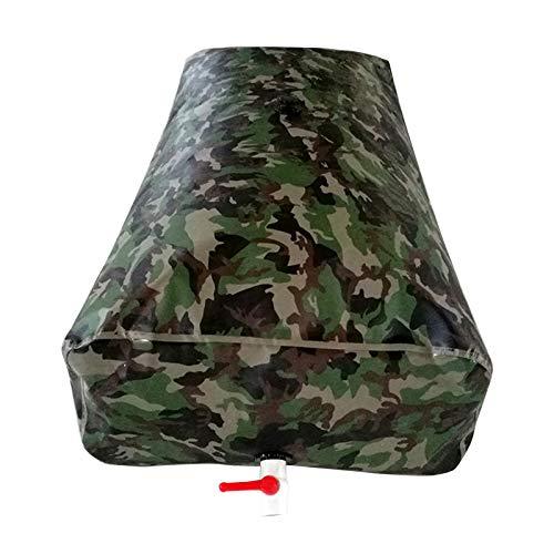 LSXIAO Tanque De Agua Flexible, Contenedor De Almacenamiento De Agua, 0,9mm De Espesor con Grifo para La Sequía, Huracán, Emergencia por Inundación (Color : Camouflage, Size : 6000L/3x2x1m)