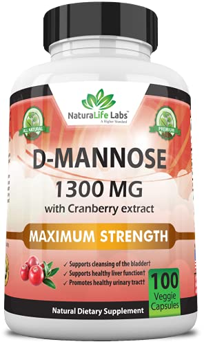 D-Mannose 1,300 mg with Cranberry Extract...
