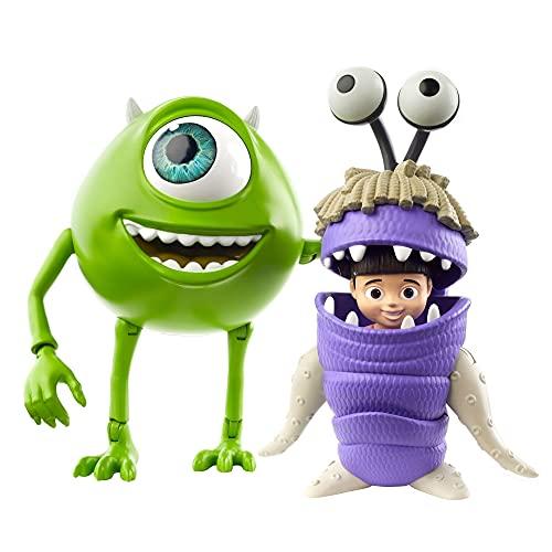 Mattel Disney Pixar Monsters & Co. Personaggi Mike Wazowski e Boo Snodabili, Giocattolo per Bambini 3+ Anni, GLX81