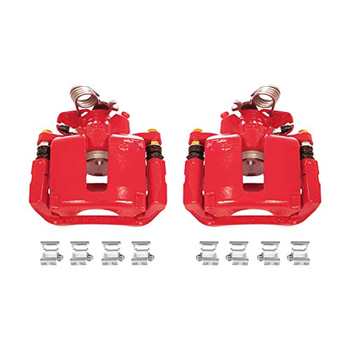 Power Stop S5466 Rear Red Powder Coated Performance Caliper Set