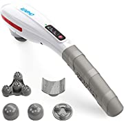 RENPHO Massager Rechargeable Cordless Handheld Massager - Portable Wireless Electric Percussion Full Body Deep Tissue Massager for Muscles, Neck, Shoulder, Back, Foot, Leg, Calf Pain Relief, White