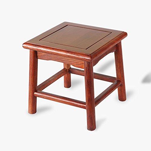 ZHANGRONG- Banc en bois en bois massif Tabouret bas Tabouret de chaussure de ménage Enfant Tabouret carré Salon banc -Tabouret de canapé (Couleur : A)