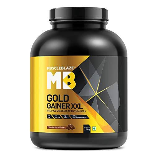 MuscleBlaze Gold Gainer XXL (Chocolate Bliss, 2.7 kg / 5.9 lb, 27 Servings)