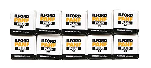 Ilford PanF+, rullino 50ISO/ASA, 120B&W, per macchine fotografiche 6x 6, confezione da 10 pezzi