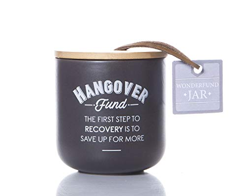 Boxer Gifts Hangover Cure Fund Money Saving Jar   Novelty Coin Saver Box   Funny Secret Santa Gift for Friends, Family and Colleagues
