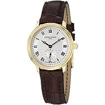 Frederique Constant Slim Line Damen-Armbanduhr 28.6mm Leder Quarz FC-235M1S5