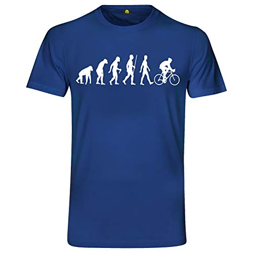 Evolution Fahrrad T-Shirt | Bicycle | Rennrad | Bike | Tour de France Blau 2XL
