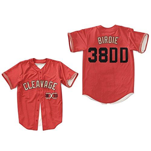 borizcustoms Al Bundy 38DD Chicago Cleavage Baseball Jersey Stitch Sewn XXS-XXL (38) Red