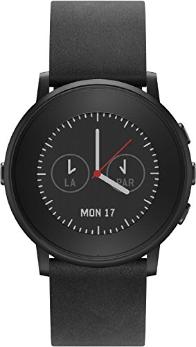 Pebble Time Round Smartwatch - Black/Black (20mm) (Certified Refurbished)
