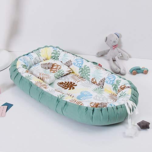 Cuna de bebé de 50 * 85 cm, nido de bebé portátil con almohada,cama de recién nacido lavable, colchón de cuna lavable, cuna de viaje extraíble para bebé