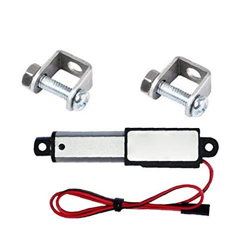 DierCosy Actuador Lineal de 12V 30N Velocidad de 30 mm Longitud 50 mm Micro Mini eléctrico con Soportes de Montaje para el Coche Auto