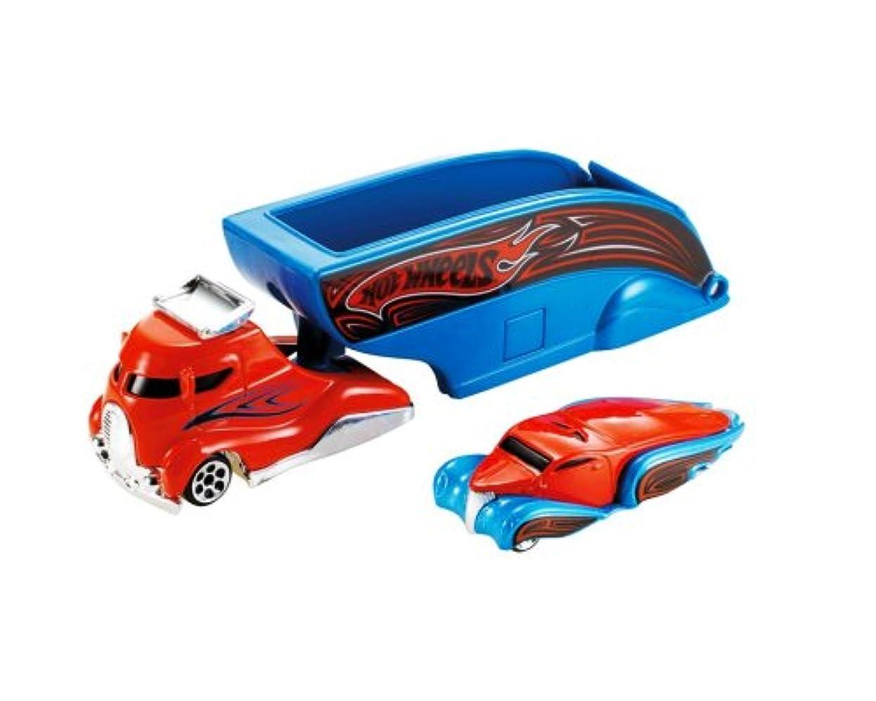 受益者呪われたポイントHot Wheels Truckin Transporters Flip Open Cab Blue & Orange