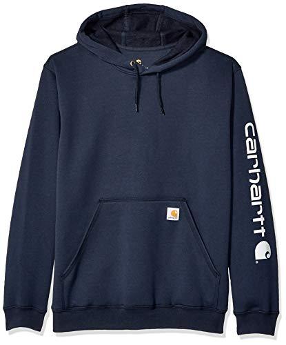 Carhartt K288 Kapuzen Sweatshirt mit Logo auf Ärmel, Farbe:Marineblau, Größe:L