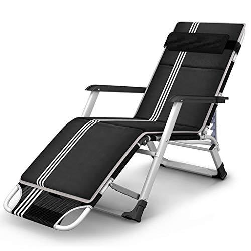 Fauteuil de salon Zero Gravity Fauteuil de terrasse inclinable de patio Inclinable réglable noir avec coussin en coton détachable