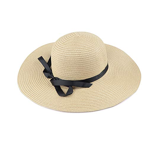 LINBUDAO Zomer strohoed dames grote hoed strandhoed zonnehoed opvouwbare zonnebrandcrème