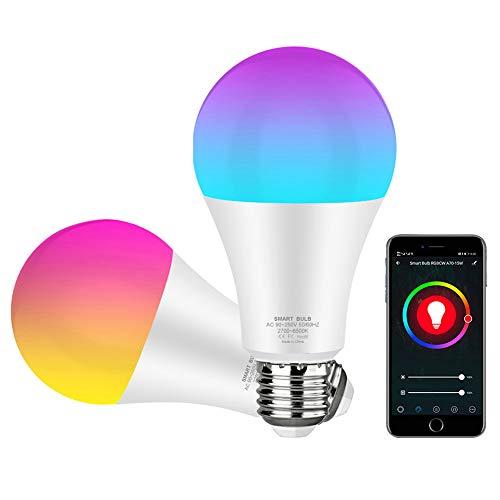 Lâmpada Avatto Led Inteligente 15w RGB E27 wifi, regulável com aplicativo Smart Life e Tuya, controle de voz para Google Home, Alexa (No Brasil)