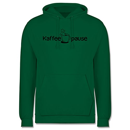 Shirtracer Küche - Kaffeepause - 3XL - Grün - JH001 - Herren Hoodie und Kapuzenpullover für Männer