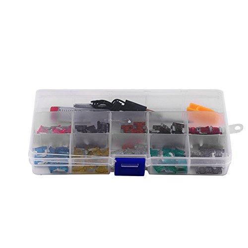 Fusible de hoja Aramox, 100 piezas 3A-35A surtido portafusibles de hoja Micro Mini juego de fusibles de hoja para coche, camión, SUV