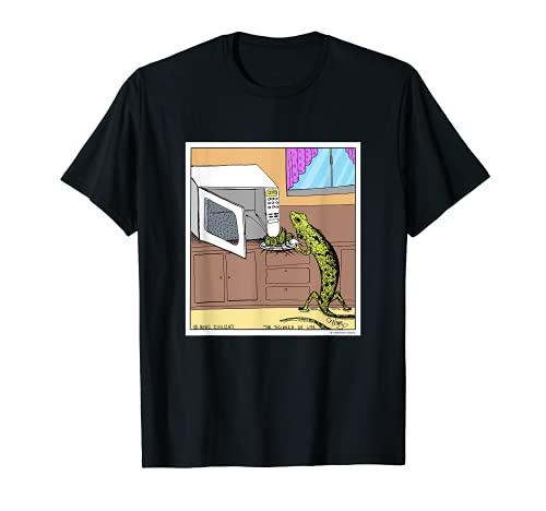 Lagarto Microondas Cena Divertida Regalo Novedad Camiseta
